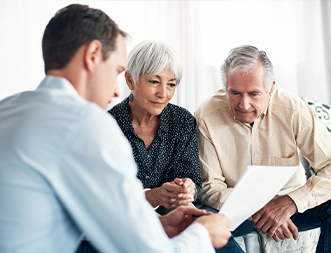 Senior Couple Gets Financial Advice Thumbnail
